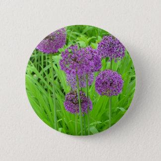 紫色の葱類の花園 5.7CM 丸型バッジ