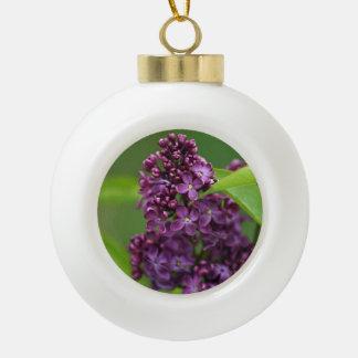紫色の薄紫のオーナメント セラミックボールオーナメント