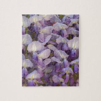 紫色の藤 ジグソーパズル