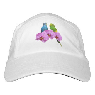 紫色の蘭とのBudgie ヘッドスウェットハット