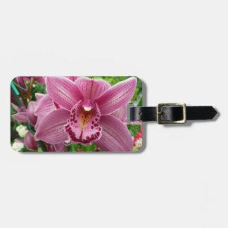 紫色の蘭のエレガントな花の写真 ラゲッジタグ