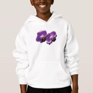 紫色の蘭のデュオ