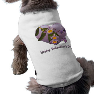 紫色の蘭のバレンタインデーペット衣類 ペット服