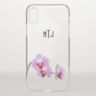 紫色の蘭の花の写真-澄んなBG iPhone X ケース