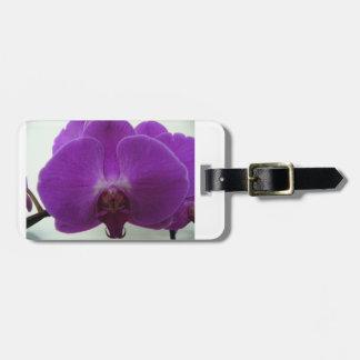 紫色の蘭の荷物のラベル ラゲッジタグ