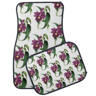 紫色の蘭パターン カーマット
