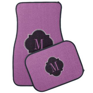 紫色の蘭車のマット カーマット