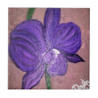 紫色の蘭 タイル