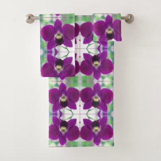 紫色の蘭 バスタオルセット