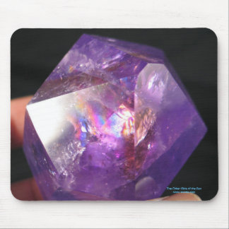 紫色の虹のマウスパッド マウスパッド