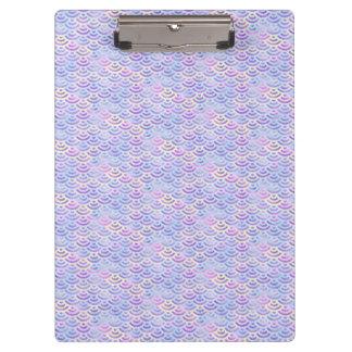 紫色の虹の人魚のパステルパターン クリップボード
