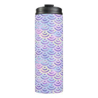 紫色の虹の人魚のパステルパターン タンブラー