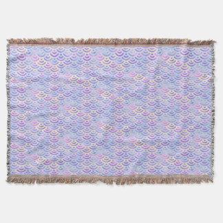 紫色の虹の人魚のパステルパターン 毛布