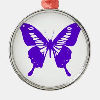 紫色の蝶はえ、幼虫、パターン、昆虫、Bu メタルオーナメント