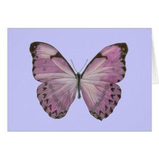 紫色の蝶カード ノートカード