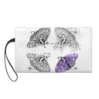 紫色の蝶スケッチ リストレット