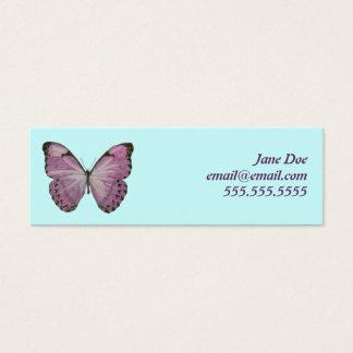 紫色の蝶テレホンカード スキニー名刺