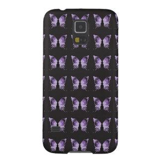 紫色の蝶パターン GALAXY S5 ケース