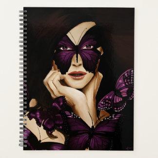 紫色の蝶マスク プランナー手帳