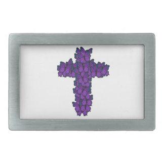紫色の蝶十字のベルトの留め金 長方形ベルトバックル
