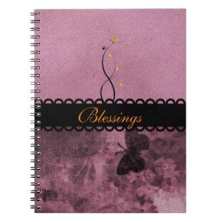 紫色の蝶恵みジャーナル ノートブック