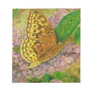 紫色の蝶薮のBuddleiaデイヴィッドの蝶 ノートパッド