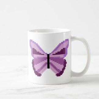 紫色の蝶 コーヒーマグカップ