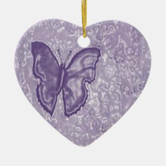 紫色の蝶 セラミックオーナメント