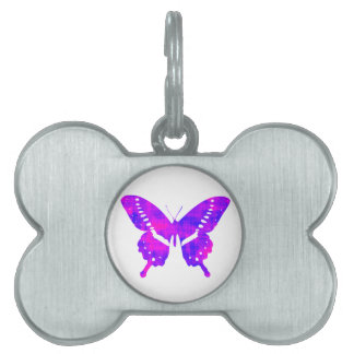 紫色の蝶 ペットネームタグ