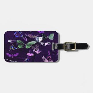 紫色の蝶 ラゲッジタグ