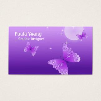 紫色の蝶 名刺