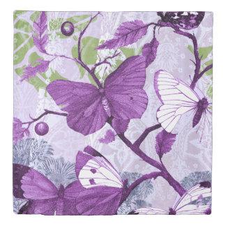 紫色の蝶 掛け布団カバー