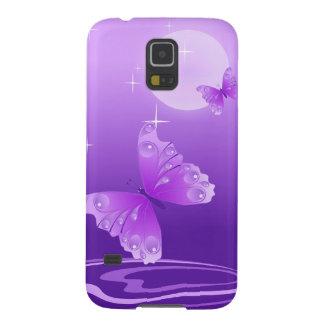 紫色の蝶 GALAXY S5 ケース