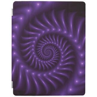 紫色の螺線形のフラクタルのiPad 2/3/4カバー iPadスマートカバー