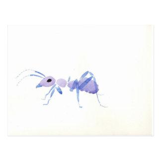 紫色の蟻 ポストカード