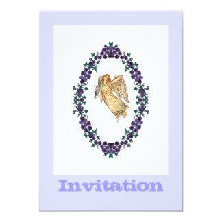 紫色の装飾との天使 カード