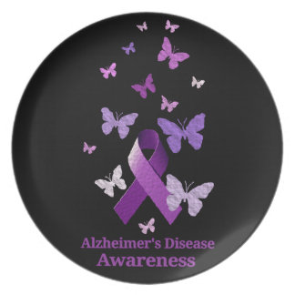 紫色の認識度のリボン: アルツハイマー病 プレート