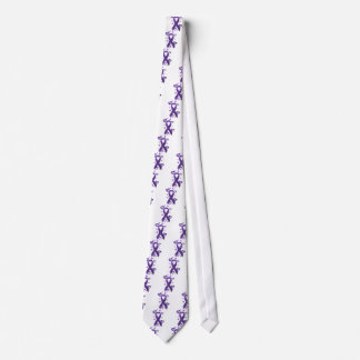 紫色の認識度のリボン オリジナルタイ