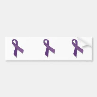 紫色の認識度のリボン バンパーステッカー