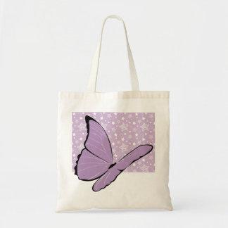 紫色の認識度の蝶 トートバッグ