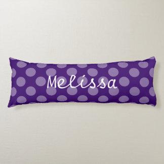 紫色の調子の水玉模様パターン ボディピロー
