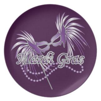 紫色の謝肉祭のマスク プレート