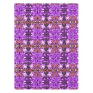 紫色の赤の抽象芸術パターン テーブルクロス