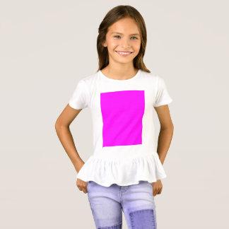 紫色の赤紫の女の子のひだのTシャツ Tシャツ