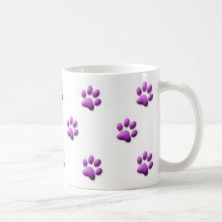 紫色の足のプリントのマグ コーヒーマグカップ