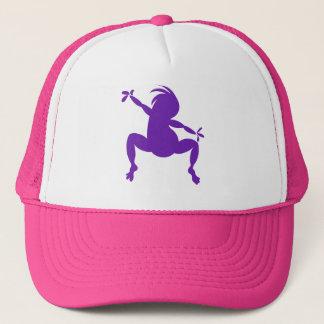 紫色の踊るココペリ キャップ