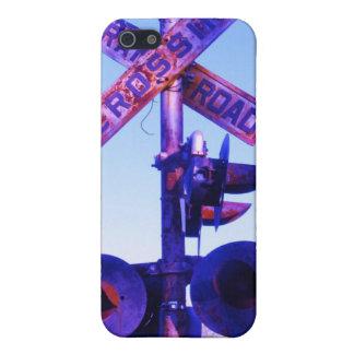 紫色の踏切信号 iPhone 5 カバー