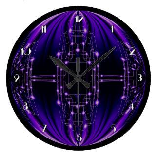 紫色の軽い技術の柱時計 ラージ壁時計
