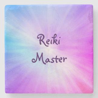 紫色の軽い霊気のマスターのデザイン ストーンコースター