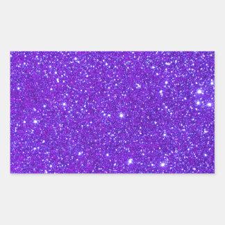 紫色の輝きのグリッターはあなた専有物をカスタム設計します 長方形シール